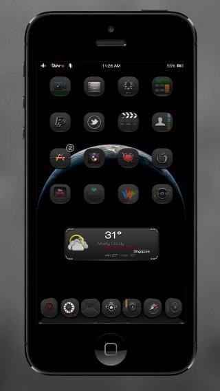 Download 0bHrA BlacK iOS8 1.0