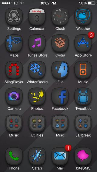 Download 1Derland DARK Glyphish Icons 18.2