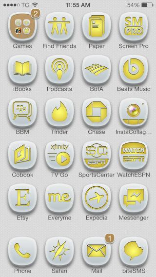 Download 1Derland GOLD Glyphish Icons 11.0