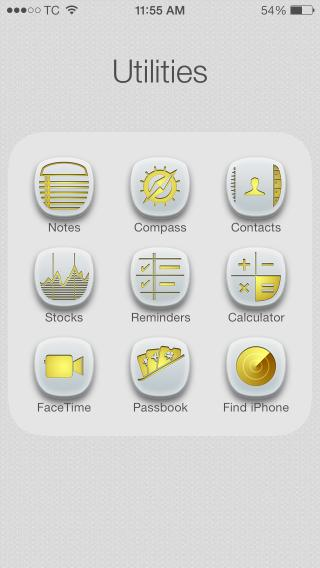 Download 1Derland GOLD Glyphish Icons 9.4