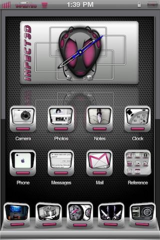 Download 1nfect3d bAdGB Clock Pink 1.0