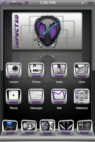Download 1nfect3d bAdGB Clock Purple 1.0
