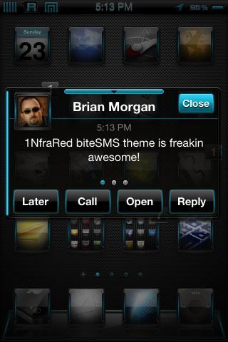 Download 1NfraBlu biteSMS Theme 1.0