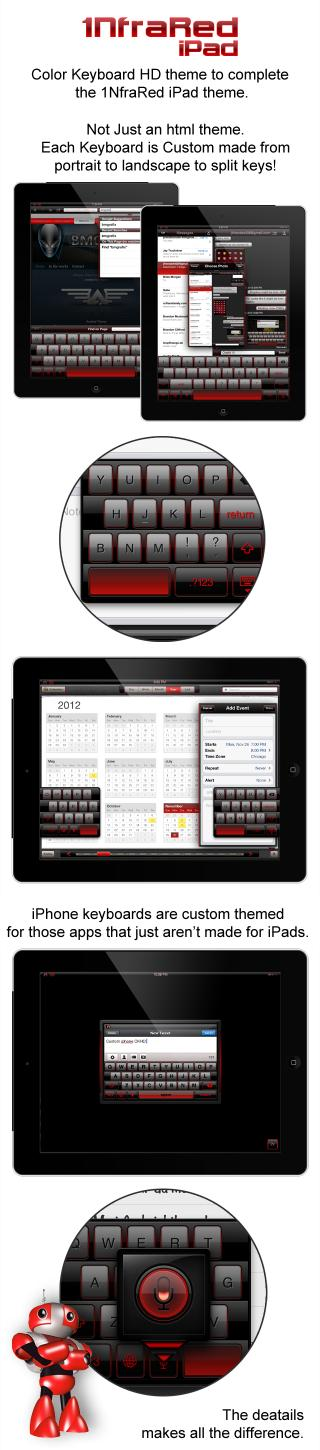 Download 1NfraRed iPad Color Keyboard 1.0