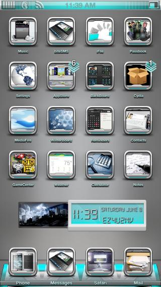 Download 1OS iWidget Weather/Clock 1.0