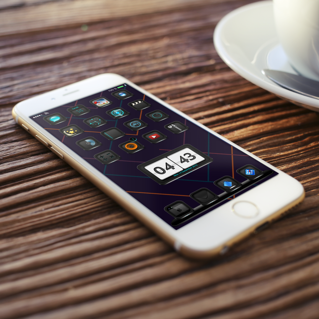 Download BlackEdition ios8 iPad wallpapers 1.0