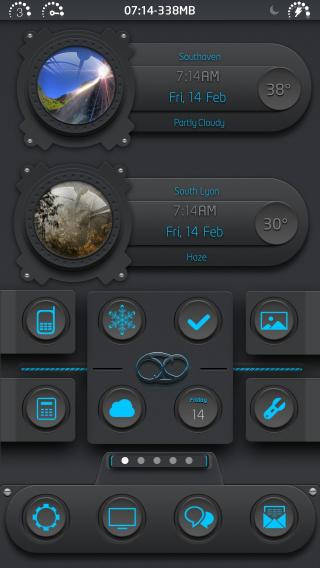 Download 69 Blue iOS7 Weather iWidget 1.1