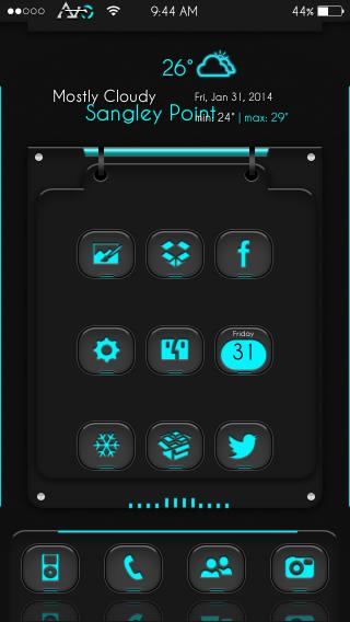 Download AirO-Glyphs Cyan 1.0