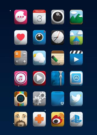 Download Ambre ios8 i6+ iconomatic 1.0