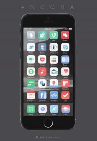 Download Andora Theme iOS8 1.1