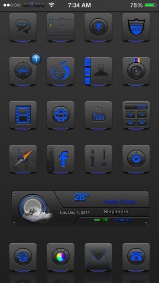 Download Ar0ma Blue iOS8 1.0
