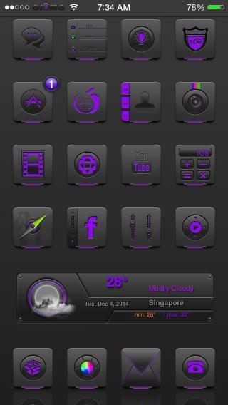 Download Ar0ma Purple iOS8 1.0