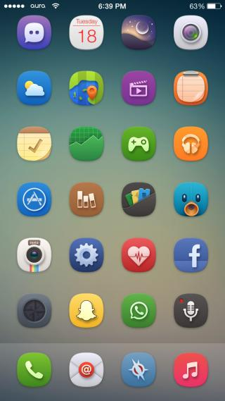 Download Aura iOS 8 1.1