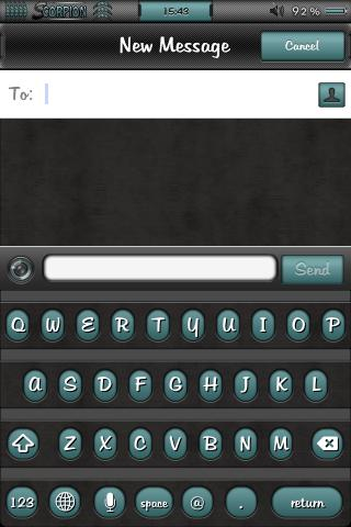 Download B1ackScorpion ColorKeyboard theme 1.02