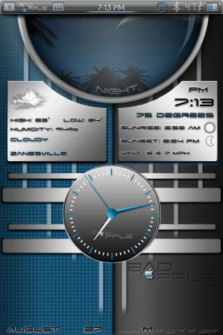 Download bAdApple Analog iWidget 1.0