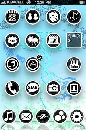 Download B&WcircleHD Theme 1.1