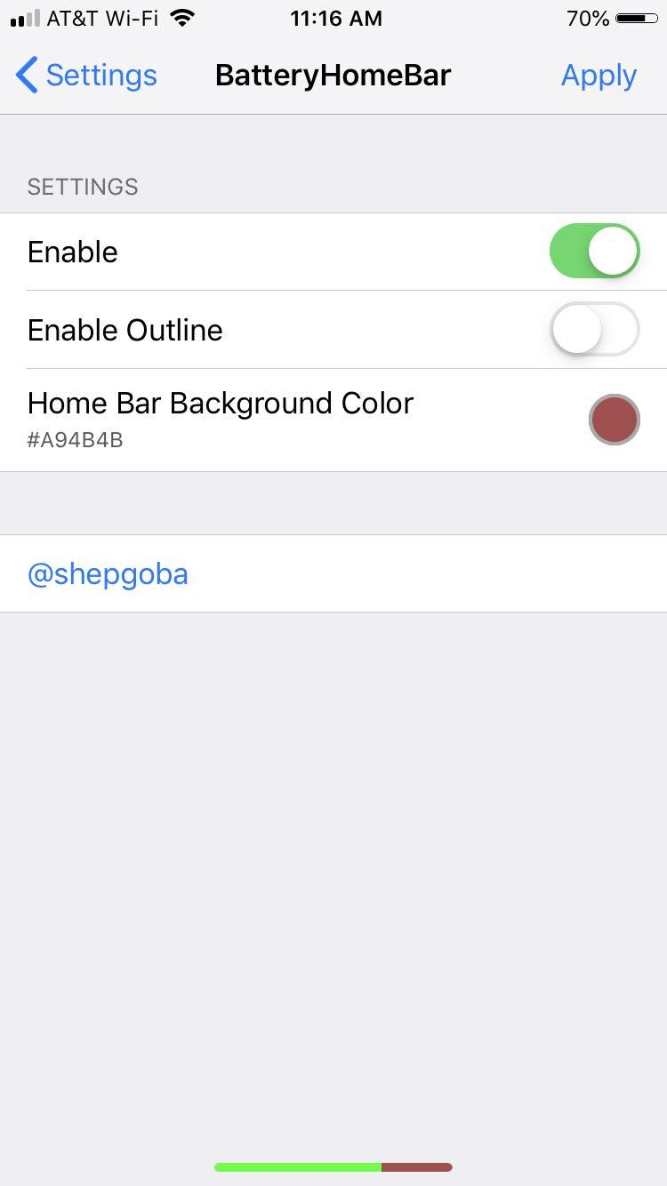 Download BatteryHomeBar 1.2