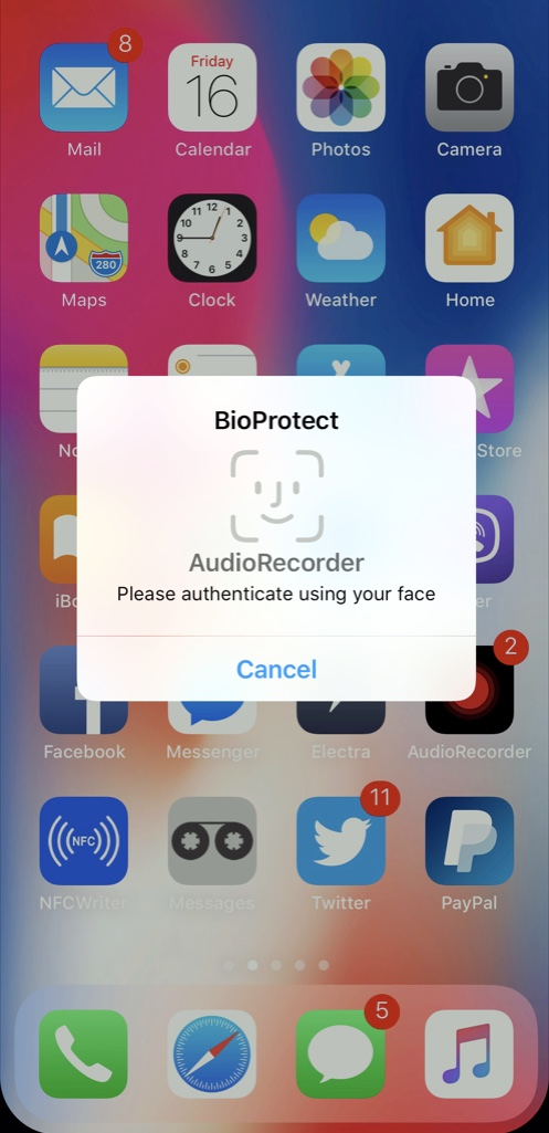 Download BioProtect X for iOS 11 3.1-68k