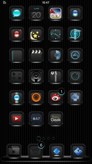 Download BlackEdition iOS8 MagicDots 1.0