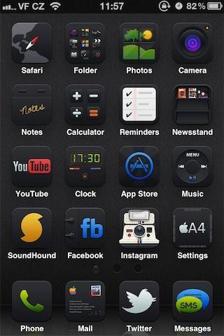 Download Black UPS HD iOS 5 6.0a