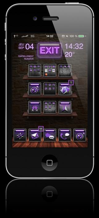 Download c0ncept Violet iWidgets 1.0