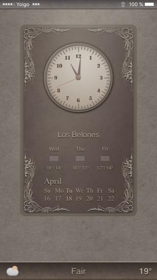Download Cappuccino LS widget i6 plus ios10 1.0