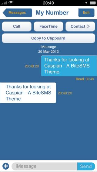 Download Caspian BiteSMS Theme 1.1