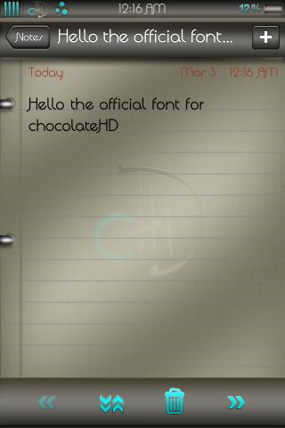 Download chocolateHD Font 1.0
