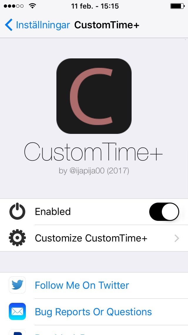 Download CustomTime+ (iOS 10/9) 1.2.2
