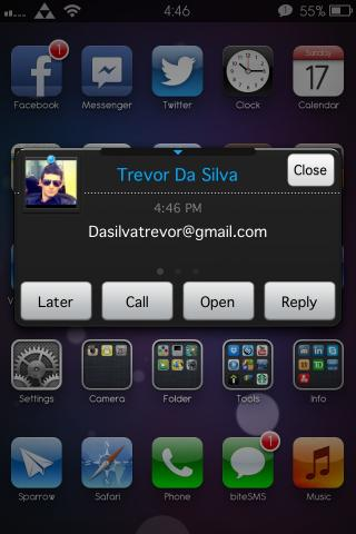 Download Dark n Blue BiteSMS theme 1.4