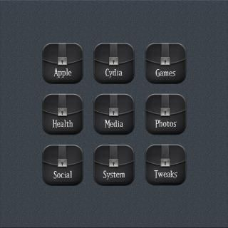 Download Desire Black CustomFolderIcons i6 plus 1.0
