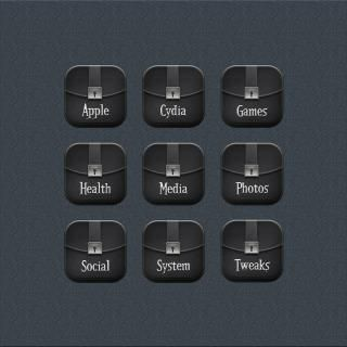 Download Desire Black Foldericons i6 plus 1.0