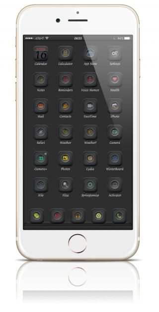 Download Desire black glyph icons ios8 i6 plus 2.3