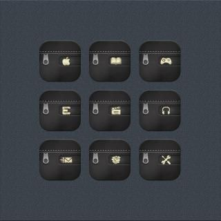 Download Desire Black Gold CustomFolders i6 plus 1.0