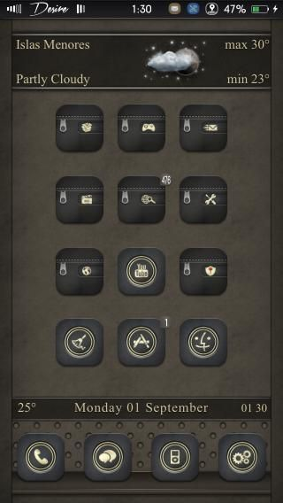 Download Desire black gold Foldericons ios7 1.0