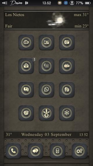 Download Desire black gold glyph iOS7 and iOS8 2.3