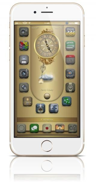 Download Desire SB Clocks widgets i6 ios8 1.0