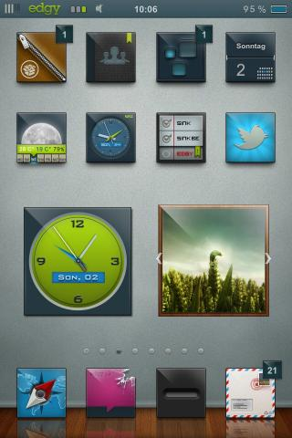 Download edgy HD schnedi iWidget Pack 1.0