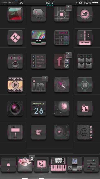 Download ELE7EN iOS8 Pink 1.0