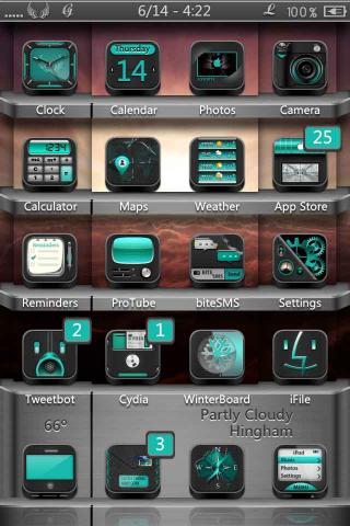Download Faith HD & SD - Black Cyan Icons Mod 1.1.1