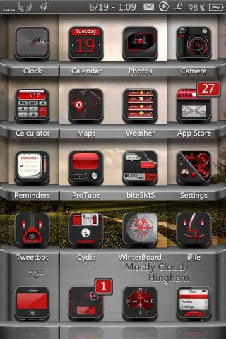 Download Faith HD & SD - Black Red Icons Mod 1.0
