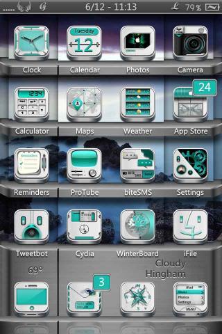 Download Faith HD & SD - White Cyan Icons Mod 1.1