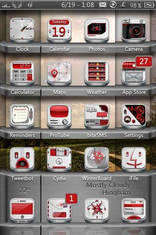 Download Faith HD & SD - White Red Icons Mod 1.0