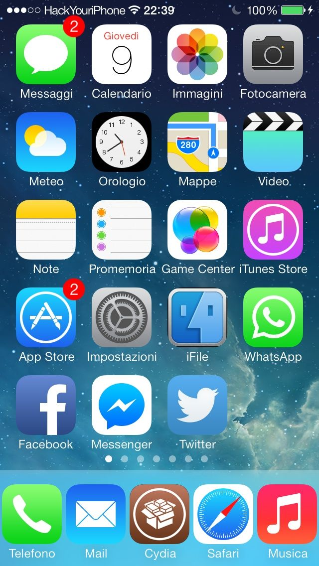 Download Five Icon Dock (iOS 7 - 8) 0.1-1