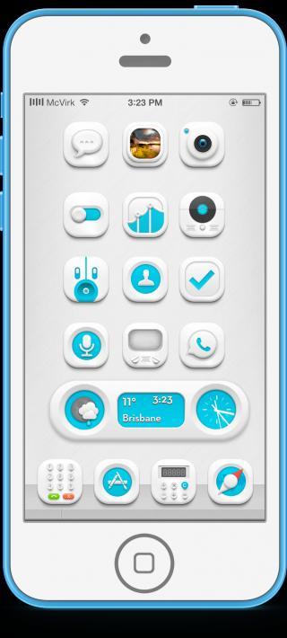 Download Flawless HD Blue 9 iwidget 2.2