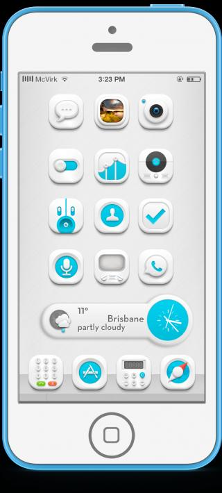 Download Flawless HD Blue iWidget iOS7 1.0