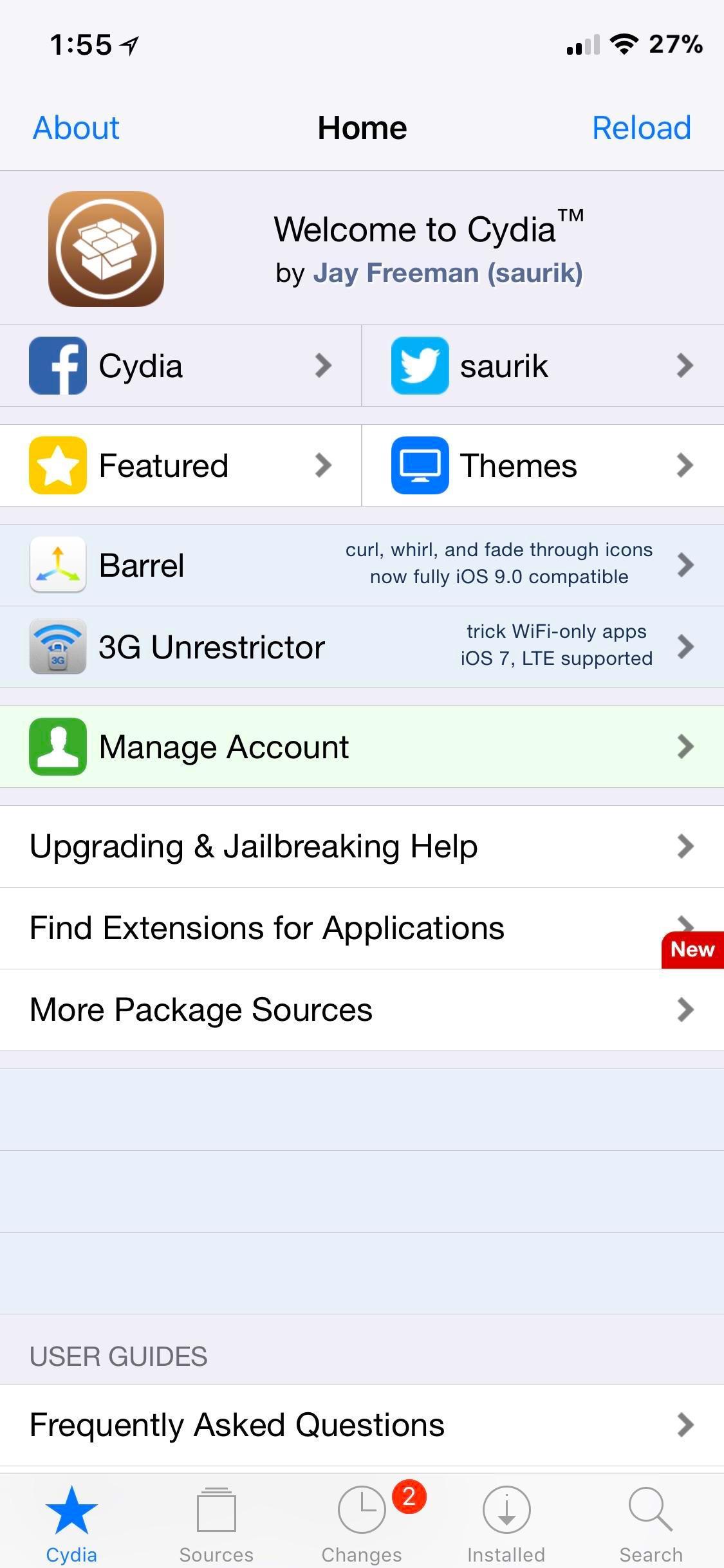 Download Full Screen Cydia iphone X 1.1