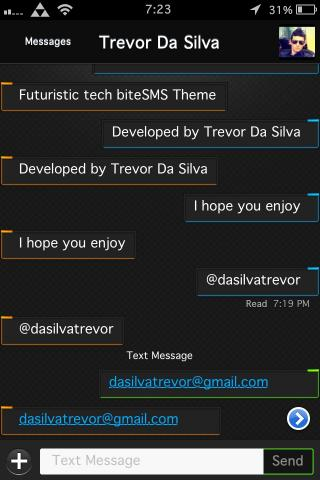 Download Futuristic Tech BiteSMS Theme 1.1