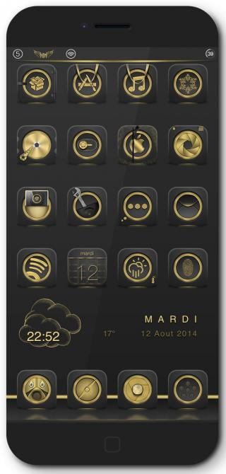 Download Golden Anemone iWidgets 1.0