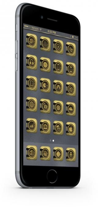 Download Golden iOS8 FolderIcons V1 1.0